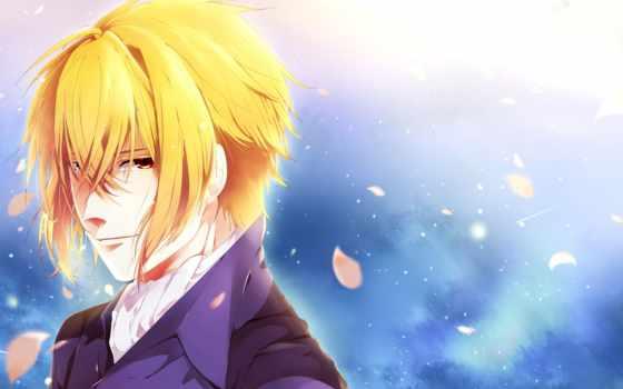 anime, парень, девушка, cvety, сакуры, категории, cartoon, демоны, демон, art, волосы,