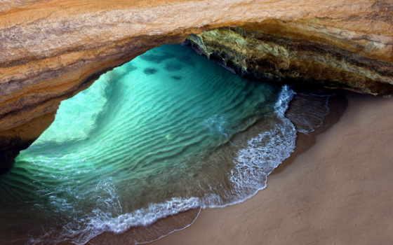португалия, красивый, пещера, грот, scenery, algarvo