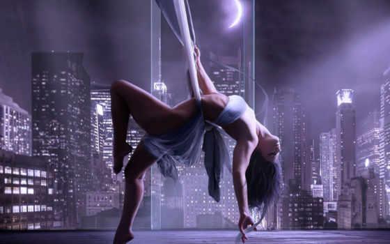девушка, dance, pole