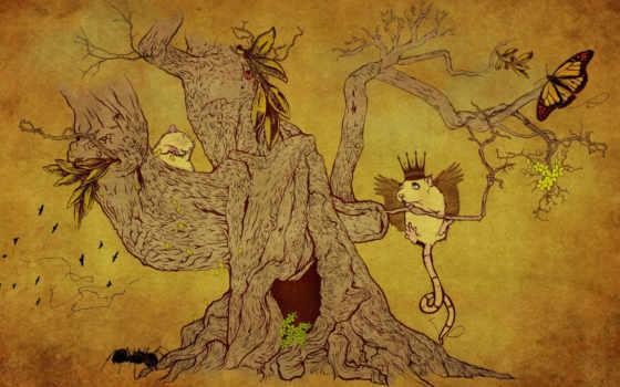 рисунок, дерево Фон № 12167 разрешение 1920x1200