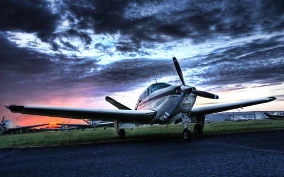 самолёт, небо, бонанза, картинка, desktop, airplane, small, авиация, private,