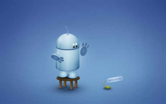 робот, баг, синий, андройд, эти,