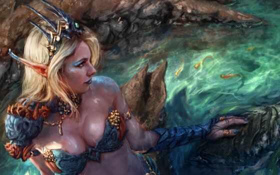 русалка, fantasy, русалки, art,