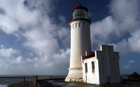 north, lighthouse, маяки, ocean, берег, небо, голова, природа, горизонт, house, фара,