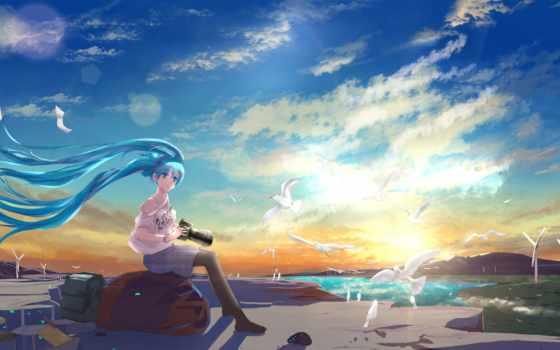 anime, miku, hatsune, free, фон, nightcore,