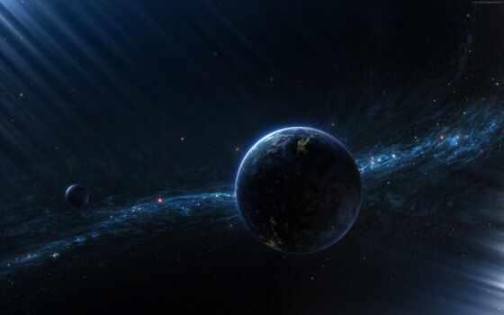 planet, космос, land, star, два