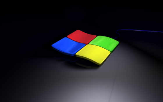 windows 3д лого на тёмном фоне