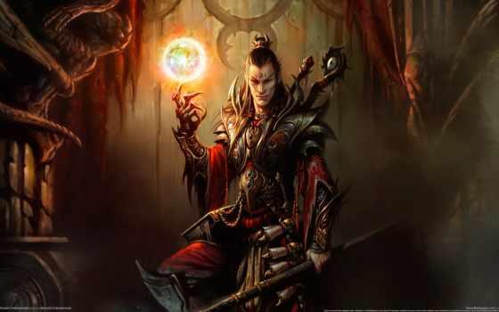 fantasy, diablo, art, wizard, игры,