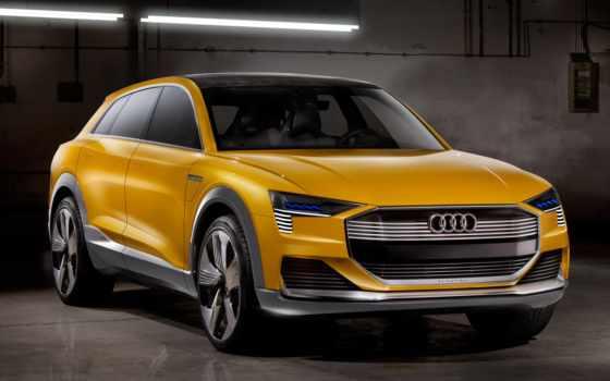 ауди, concept, quattro, желтый,
