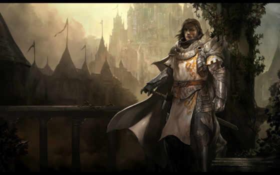 рыцарь, art, меч, castle, оружие, воин, mount, wagon, буква, путники, armour,