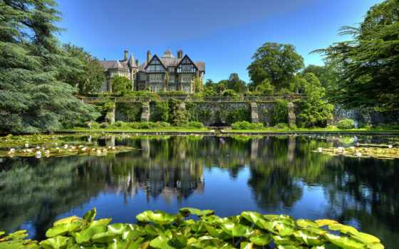 bodnant, conwy, wales, garden, кувшинки, пруд, сады, природа, великобритания, park,