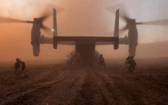 osprey, военный, самолёт, bell, boeing, мена, воин, рейд,
