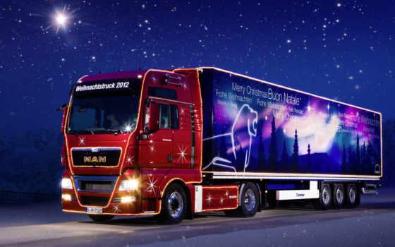 truck, christmas