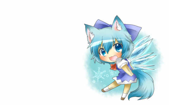 cirno, blue, anime, zerochan, similar, eyes, ears, colors, tags, animal, touhou, hair,
