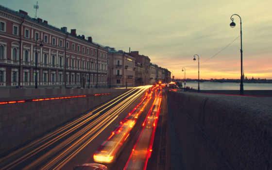 санкт, петербург, вечер