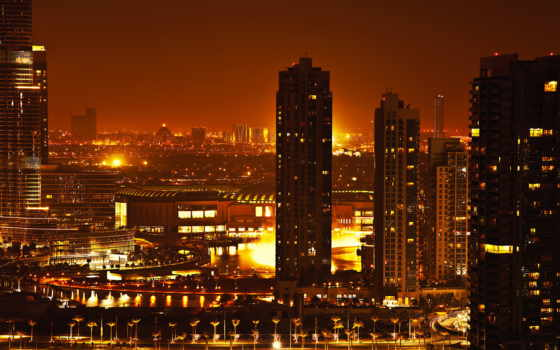 dubai, ночь, stock, burj, tallest, khalifa, building, world, uae, город,