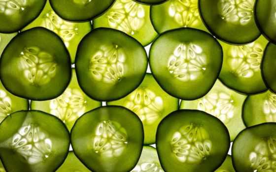огурцы, текстуры, дольки, еда, огурец, киви, android, фрукты, разрезе, долька,