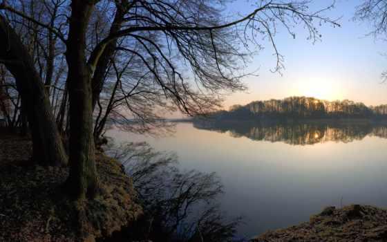 озеро, красивые, landscape, бесплатные, лес, trees, картиники,