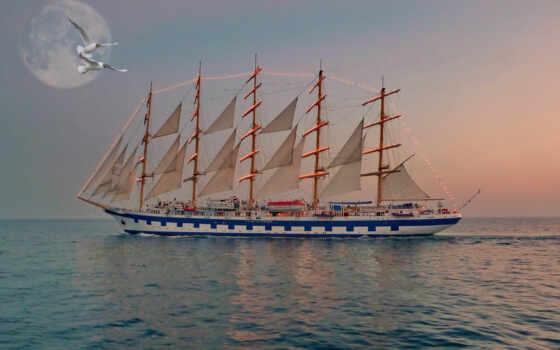корабль, мачтовый, frank, amphibious, средний, другой, tanker, рисованный, henry, mason