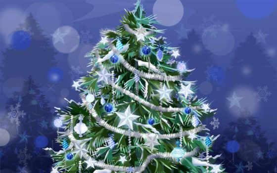 новогодняя, дерево, год