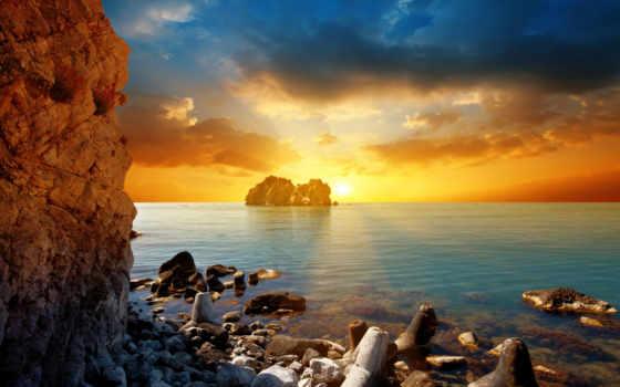 солнце, more, zakat