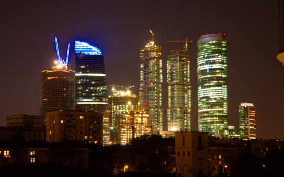 москва, город, ночь Фон № 94591 разрешение 2560x1600