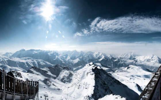 горы, рисунки, бесплатные, заставки, alpe, huez,