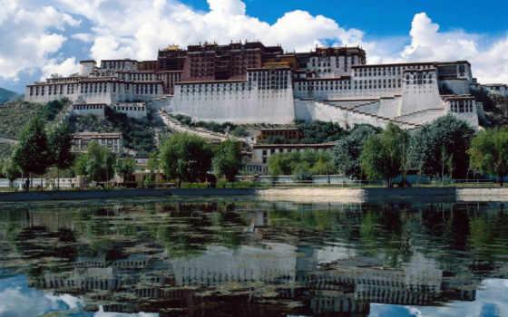 дворец, потала, тибете
