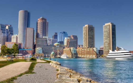 boston, ciudades, full, pantalla, города, широкоформатные, кб, порт,