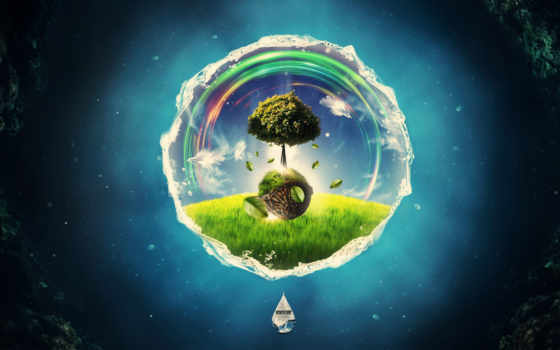 global, warming, wide, mas, дерево, зелёный, кб, графика,