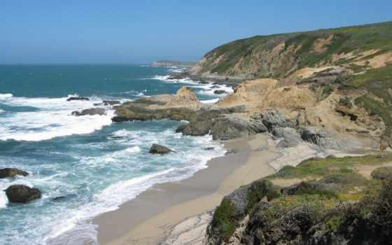 море, природа, bodega, голова, радуга, берег, reki, emo, bay,