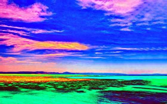 water, горизонт, страница, tagged, infrared, море, отражение,