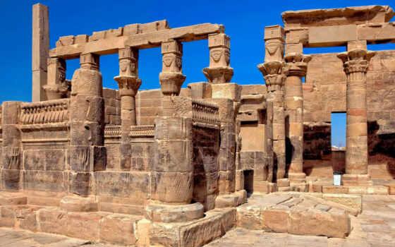 разруха, небо, haute, храм, fond, télécharger, картинка, египет, mesir, kuil, concrete