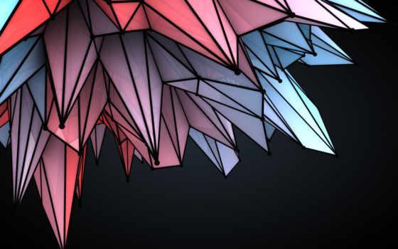 абстракция, грани, графика, красивые, daily, только,