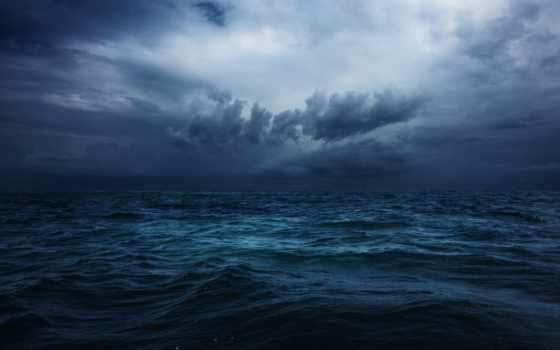 ocean, буря, океане