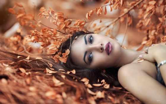 девушка, листьях, красивая, лежит, фотограф, alessandro, сухих, листва, ди, cicco, красивые,