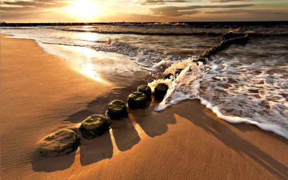 пляж, скалы, море, тропинка,