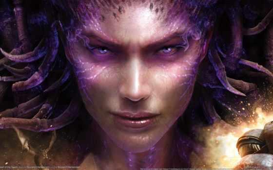 starcraft, сердце, swarm, керриган, queen, sarah, blades, blizzard,