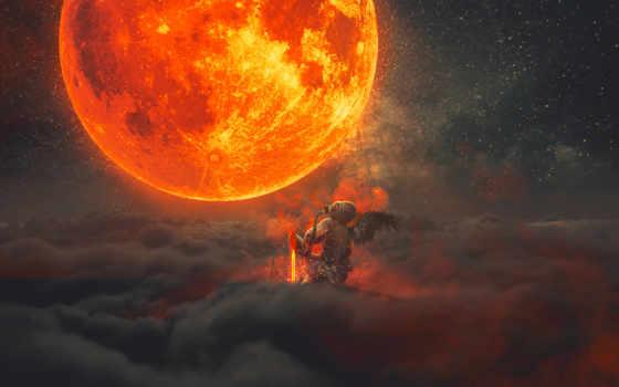 fantasy, луна, resolutions, world, full, desktop,