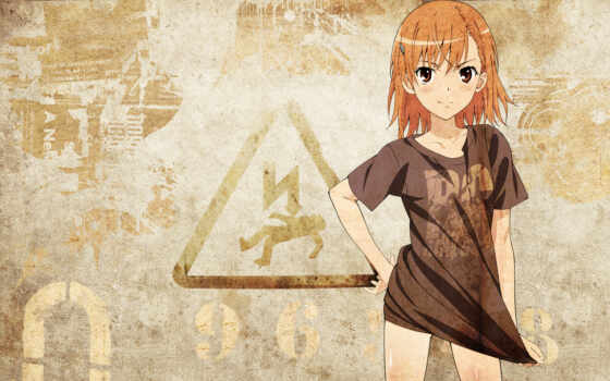 mikoto, misaka, sign, kagaku, railgun, aru, margarita, art, anime,