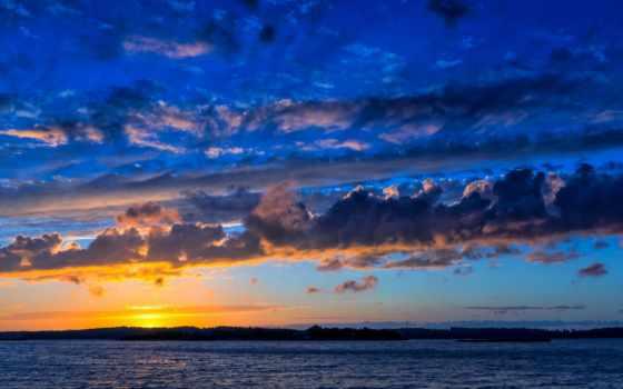 море, балтийское, облака
