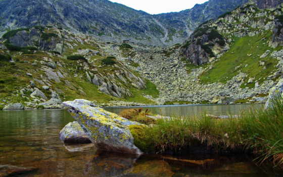 озеро, гора, уровень