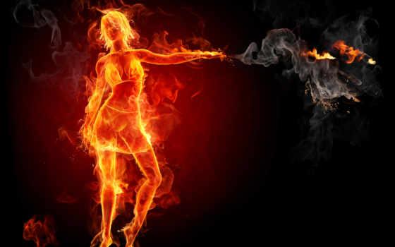 огненная, бесплатные, девушка