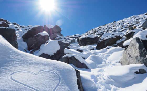 ultra, снег, природа, photos, uhd, rock, android,
