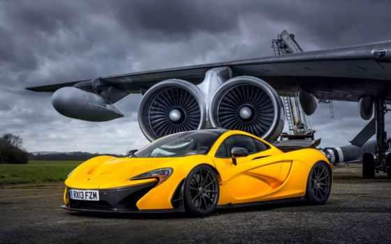 mclaren, суперкар, admin, макларен, yellow, двигатель, крыло,
