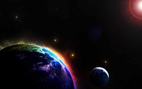 космоса, land, взгляд, планете, необычные, явления,