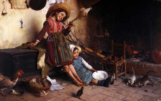 радость, children, рисунок, famous, paintings, широкоформатные, you, настроение,