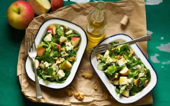 салат, walnut, roquefort, осень, apple, сыр, wallnut, плесень, white, фото