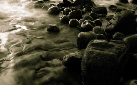 камень, черная, пляж, water, море, река, тв, wide, burlywood, darkolivegreen, keep
