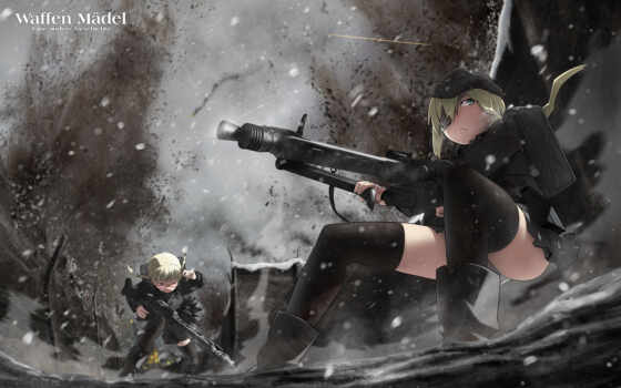 military, soldiers, anime, soft, strike, shading, girls, witches, tags, gun, similar,